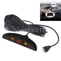 Wholesale Car LED Parking Reverse Backup Radar Monitor System with Backlight Display Sensors colors DHL Free