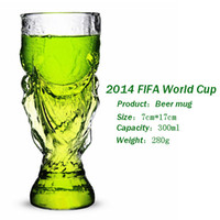 Wholesale World Cup Trophy Hercules Glass Cup Wishkey Wine Beer Drinking mug cup trophy creative personalized cups