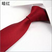 Wholesale hot sales silk neck tie for men women fashion New Skinny Tie for men cm Solid Color stripe Necktie