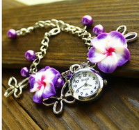Wholesale Fashion Quartz Crafts watches Student Womens Girl Bracelet Watch Wristwatch colors for gift