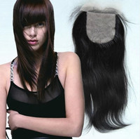 Brazilian Hair Natural Color Straight Silk Base Lace Closure Brazilian Virgin Hair Natural Straight 100% Human Hair Quick Shipment