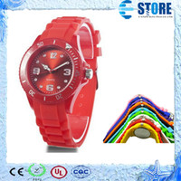 Wholesale Luxury Fashion Ice Student Unisex Colorful Candy Jelly Watch Ladies Women s Mens Men s Watches colors M