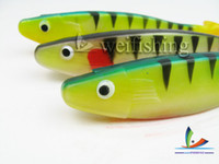 Soft Baits Big Game Saltwater High quality plastic bait Soft bait fishing lures multicolor Material is PVC(16cm 30g 10pcs lot) china post air