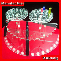 Wholesale 15 kinds e cig display stand e cig dip tip e liquid bottle display stand dispay shelf ego stand E Liquid bottle acrylic display stand