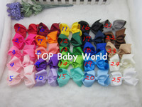 2014 Hot selling 25colors 4inch grosgrain ribbon baby boutiq...