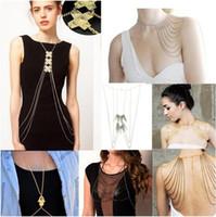 Bikini Beach Crossover Harness Necklace Waist Belt Belly Uni...