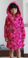 Wholesale Baby Bath robe barbie princess love style Children bath towel fuchia cute baby sleepwear kids Lungewear