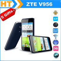 4.7 Android 512M Original ZTE V956 Smartphone MSM8225Q Quad Core Android 4.1 3G GPS 4.5 Inch IPS 854*480 Screen 3G phone 5MP Camera with Gifts