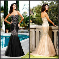 Wholesale 2014 Sweetheart Mermaid Pageant Dresses Beaded Tulle Blush Train Vintage Plus Size Mermaid Prom Formal Evening Dresses with Crystals