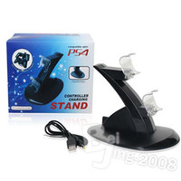 ps4   High Quality Black Dual USB Charging charger Dock Stand for Playstation 4 PS4 Game Controller Free Shipping 002098 1pcs