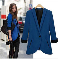 Women Suit Cotton Europe and America Fashion Suits Single breasted Blue Black Business Spring Autumn Long Sleeve Blazers For Women