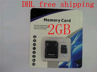 Wholesale DHL best quality GB flash memory card micro sd card class4 tf card Mobile phone memory card Packing dapter