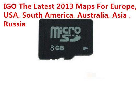 GB Igo Primo Map GPS Maps The Lateset D Europe Amerian - Igo sd card us map download