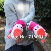 Wholesale 2pairs OFF Dropshipping New Arrival Plush Toy Penguin Gloves Winter For Children And Girl s Chirstmas Gifts Pair