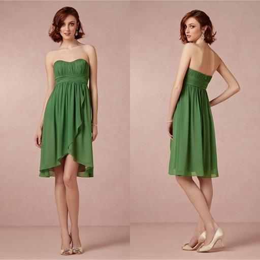 2014 summer bridesmaid dress green for Junior wedding guest dresses for summer