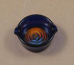 Wholesale glass ashtray dish OIL RIG DISH DABBER