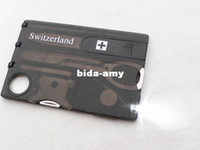 other Camping Knife Stainless Steel Swizerland 12 IN 1 Credit Card Tool Knife Blade Business Card Knife Card(OEM)