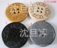 Buckles Superba Round Wholesale Small laser spot 3cm UGG snow boots buckle wooden logs dedicated button buckle 5 colors