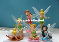 Wholesale PVC Tinkerbell Fairy Adorable tinker bell Figures SECRET OF THE WINGS set