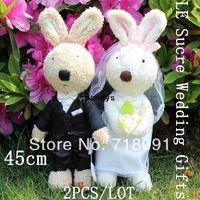 Teddy Bear wedding stuff - Drop Stuffed Plush Rabbit Toy Bunnies Brand Le Sucre For Wedding Gifts Valentine Day cm
