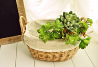 Wholesale Zakka The simple and practical of willow baskets Storage Baskets home decoration
