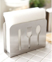 Wholesale New Zakka Upscale IKEA style creativity stainless steel tissue box Napkin folder Home decoration