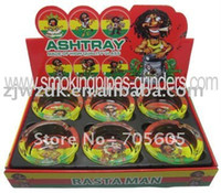 Wholesale 6pcs rasta man glass ashtray Christmas shop