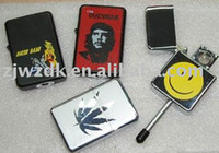 Wholesale 2pcs oil lighter zipp lighter pipe smoking pipe mix designs