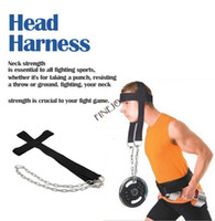 Wholesale 2014 NEW Nylon Head Harness Neck Strength Head Strap Weight Lifting Exercise Fitness Belt TK0864