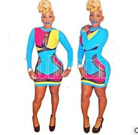 Wholesale 2014 Fashion Keyshia Kaoir s Brush Multi Color Prom Dresses Celebrity Bodycon Dress Hollow Out Sexy Club Wear Bandage Dresses
