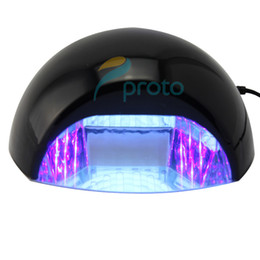 Wholesale 18W v CCFL LED Nail Lamp UV Gel light Curing Nail Dryer for Shellac Gel Dropshipping retail SKU E0282