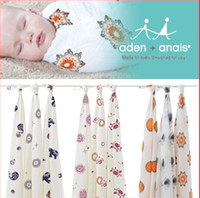 Wholesale Aden Anais Multifunctional Newborn Swaddle Big Size Baby Towel bamboo muslin swaddles Baby Blankets x120cm inch