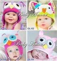 Unisex Summer Crochet Hats Free Cartoon Designs 100%Cotton Handmade Children Crochet Hats Various Animal Styles Baby Owl Beanie hat Kids Flower cap