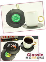 Wholesale Pieces Set Spinning Retro Vinyl Record Drinks Coasters Vinyl Coaster Cup Mat