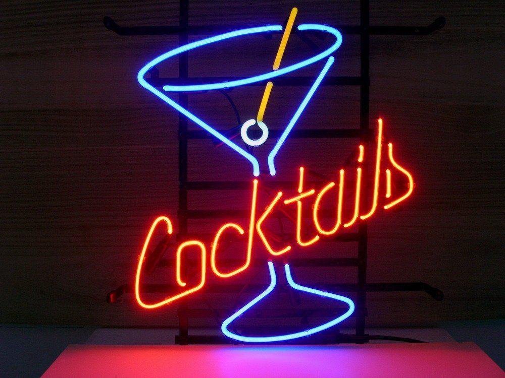 2018 Cocktails Neon Light Glass Neon Light Sign Beer Bar