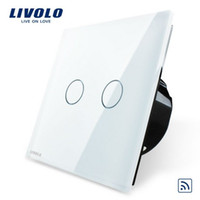 CE Touch On/Off Switch White Livolo EU Standard Remote Switch, Crystal Glass Panel, EU standard,VL-C702R-11,Wall Light Remote Touch Switch+LED Indicator
