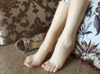 Wholesale The new size sexy female calf fake silicone real skin texture with skeleton women lges foot fetish model t37 shipping for men