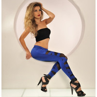 Wholesale Fashion Rave Party Disco Hot Pink Black Coffee White Solid Color Wetlook Inset Leggings Pants Y103