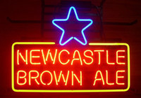 Night Bar beer ale - NEW NEWCASTLE BROWN ALE REAL GLASS NEON BEER LAGER BAR PUB LIGHT SIGN