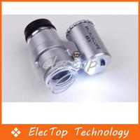 Wholesale Mini X Jeweler Loupe Magnifier Microscope LED Light
