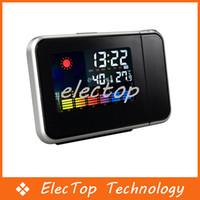 Digital Alarm Clocks  Digital LED Display Weather Station Projection Alarm Clock Temperature Wholesale