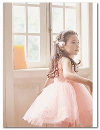 Girls princess dress Fashion korean children Lace tulle Sleeveless Dress kids tutu party dress beige pink 3081