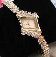 Wholesale 2014 Luxury Women Watches Ladies Wrist Watches Gorgeous Rhinestones Rose Gold Girl Women Bracelet Wrist Watch xp15