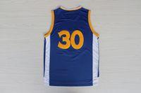 Wholesale Top Quality Resonate Fashion Revolution Swingman Men s Stephen Curry Blue Basketball Jerseys Embroidery Logo Mix Order