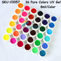 Wholesale Freeshipping Pure Solid Colors UV Gel for UV Nail Art Tips Extension Decoration Dropshipping Retail SKU C0057