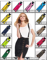 Wholesale New Fashion Y back Suspenders Clip on Adjustable Unisex Pants Y back Suspender Braces Black Elastic
