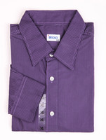 Casual Men Cotton Casual Purple 100% Cotton Mens Long Sleeves Shirt silk shirts for men r30 #u5-j76