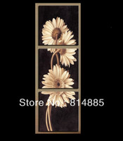 Cheap 3 Panels Sunflower Painting ,Top Home Decoration Top Quality Modern Abstract Handmade Flower Oil Painting Wall Art JYJHS102