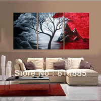 Cheap 40*50cmx3p,3 Panels , 100% Handpainted Modern Oil Painting On Canvas,Wall Art ,Top Home Decoration yttht019