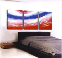 Cheap Free Shipping !!! Handpainted 3 Panel Wall Art Modern Oil Painting on Canvas ,Top Home Decoration JYJLV046